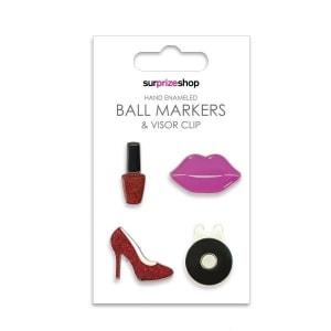 Girly Glam Ball Marker & Visor Clip Set