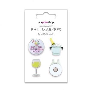 Boozy Ball Marker & Visor Clip Set