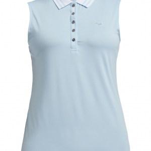Röhnisch mouwloze golf polo stripe licht blauw (110168)