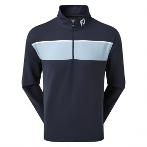 Footjoy heren Chill-Out Pullover navy met streep (90205)