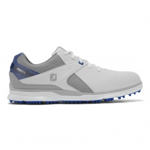 Footjoy pro SL wit, grijs en royal blue