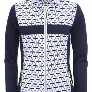 Luhta dames midlayer jacket met zwart wit patroon