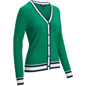 Callaway knit cardigan golf groen