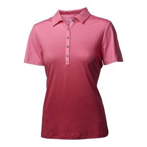 Backtee dames polo dip dye roze