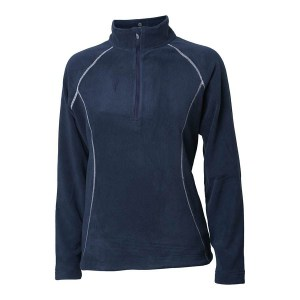 Backtee dames fleece zipneck vest navy