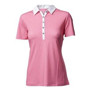 Backtee dames sporty polo pink lemonade