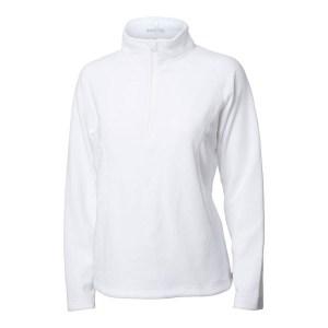 Backtee dames fleece zipneck vest wit