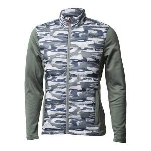 Backtee heren gewatteerd camouflage jack agave green