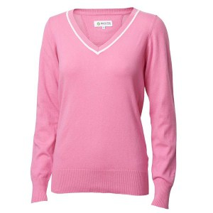Backtee solid stretch pull over roze