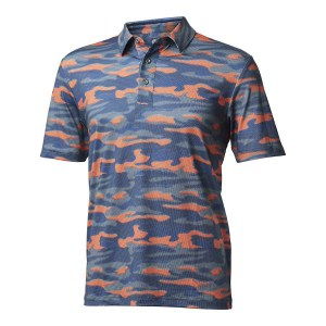 Backtee heren camouflage polo agave green