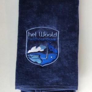 Woold Handdoek Navy blauw